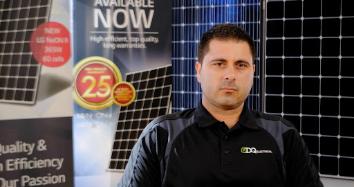 Don Quattrocchi, the director of DQ Solar and Electrical in Gepps Cross, SA